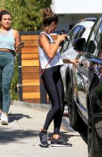 Alessandra Ambrosio Pictured exiting a residence after a yoga class in West Hollywood
