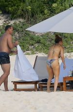 Alex Rodriguez & Jennifer Lopez Enjoy a day at the beach in Turks and Caicos, Bahamas