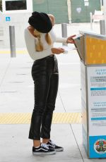 Alexis Ren Casts her vote at a ballot box in West Hollywood
