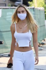 Alexis Ren Steps out for drinks from Moon Juice in Los Angeles