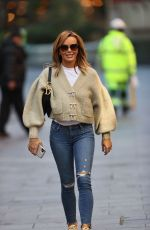 Amanda Holden In Tight jeans outside Global Studios in London