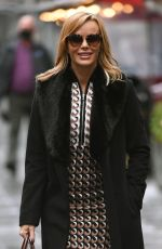 Amanda Holden Pictured leaving the Global Studios after the Heart Breakfast show in London