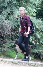 Amber Heard Out hiking with her dog in Los Feliz