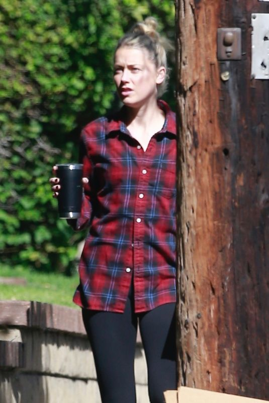 Amber Heard Outside her home in Los Angeles