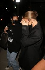 Anastasia Karanikolaou & Kylie Jenner Are seen leaving a voting popup in West Hollywood