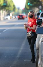 Ashley Benson Grabbing iced coffee in Los Angeles