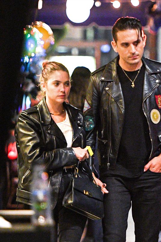 Ashley Benson Spotted having a romantic dinner date outside La Poubelle in Hollywood