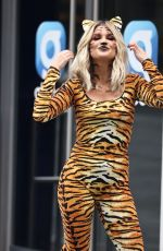 Ashley Roberts Dressed for Halloween outside Heart radio studios in London