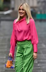 Ashley Roberts Leaving the Global studios after the Heart breakfast show in London