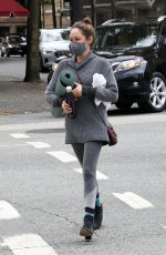 Autumn Reeser Takes part in a yoga class on a day off filming a Hallmark Christmas movie in Vancouver