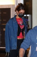 Bella Hadid Leaves her apartment headed out to dinner in New York City