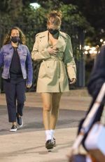 Bella Hadid Out in New York at night