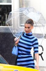 Bella Hadid Puts in work as she poses on the set of the Michael Kors photoshoot in New York
