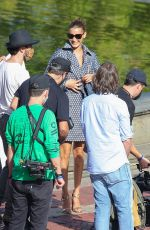 Bella Hadid Takes over Central Park for a fashion photo shoot in New York