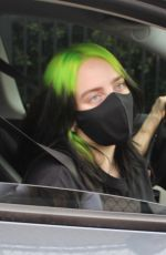 Billie Eilish Rocks her signature green and black hair at her first Virtual Concert in Los Angeles