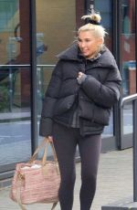 Billie Faiers Leaving the ice skating rink with her choreographer/coach