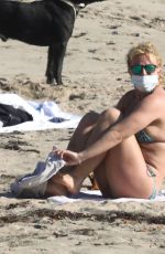 Britney Spears In a bikini at a beach in Malibu