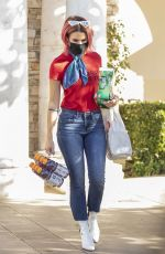 Brittany Furlan While picking up refreshments from the grocery store in LA
