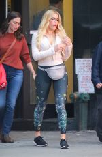 Busy Philipps Filming a scene for