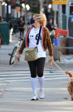 Busy Philipps Walking her puppy in NYC
