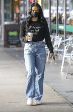 Camila Mendes At Coffee run with Truffle in Vancouver