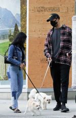 Camila Mendes Takes her dog out for a walk in Vancouver