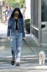 Camila Mendes Takes her dog Truffle for a walk in Vancouver