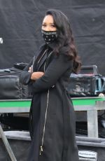 Candice Patton On the set of The Flash in Vancouver