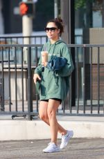 Cara Santana Rocks a see you in 21 Hoodie as she grabs an iced coffee after the gym in Los Angeles