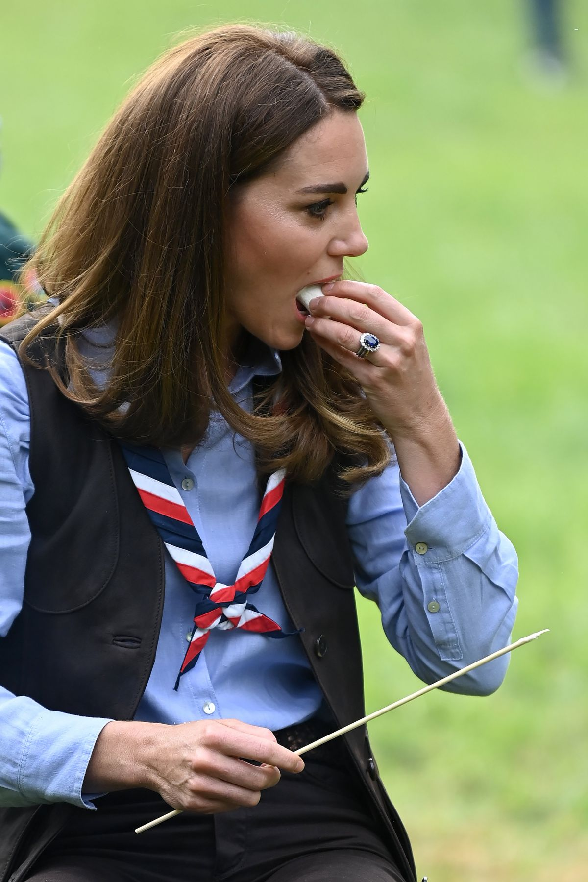 Kate Middleton Dazzles in a Beaded Red Dress for a