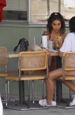Chantel Jeffries Enjoys a late lunch with a friend in Beverly Hills