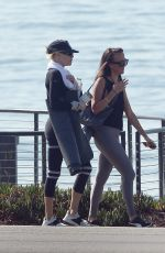 Charlotte McKinney Is Spotted Exercising at The Beach in Los Angeles