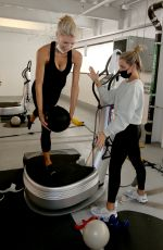 Charlotte McKinney Working out in Los Angeles