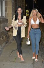 Chloe Ferry Hits the Toon on a night out after being in quarantine since having her breast reduction trip to Turkey