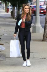 Chrishell Stause All smiles for a short visit at the DWTS studio in Los Angeles