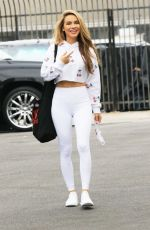 Chrishell Stause Arriving for practice at the DWTS studio in Los Angeles