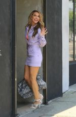 Chrishell Stause At 80's Week At DWTS Studio in LA