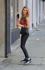 Chrishell Stause Heading into a weekend dance practice with Gleb Savchenko at the DWTS studio in Los Angeles