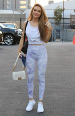 Chrishell Stause Shows up late at the DWTS studio in Los Angeles