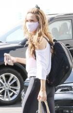 Chrishell Stause Spotted leaving the DWTS studio as she finishes her dance practice in Los Angeles