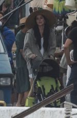 Dakota Johnson On the set of The Lost Daughter in Speteses Island, Greece