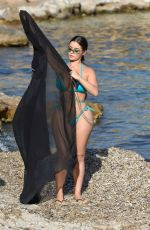 Demi Rose Mawby Out on the beach in Ibiza
