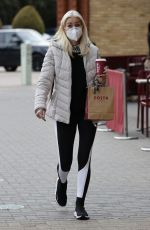Denise Van Outen And Partner Pro Skater Matt Evers out and about in Essex