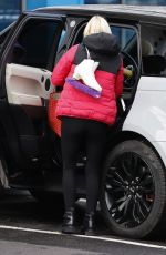 Denise Van Outen Seen arriving for the first day of training for Dancing On Ice in Essex