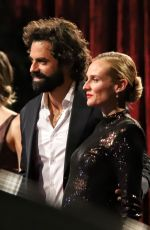 Diane Kruger Seen filming faux red carpet scenes for new series