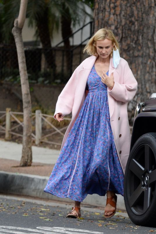 Diane Kruger Takes her daughter to the park before picking up husband Norman Reedus at the airport in Los Angeles