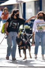 Emily Ratajkowski Spotted out with her dog and friends in downtown New York