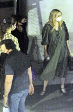 Emma Roberts Having dinner with a group of friends of at Crustacean Restaurant in Beverly Hills