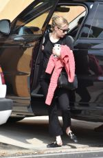 Emma Roberts Outside her home in LA