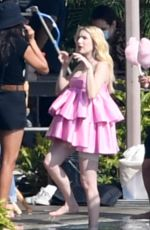 Emma Roberts Was seen doing a photoshoot in Los Angeles